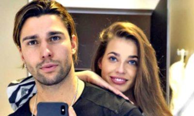 luca onestini e ivana mrazova, selfie allo specchio