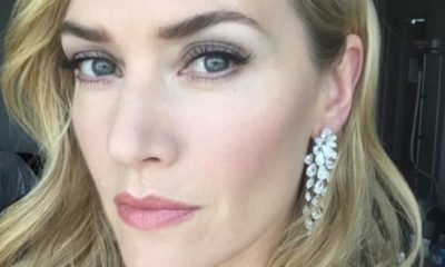 kate winslet, capelli mossi selfie