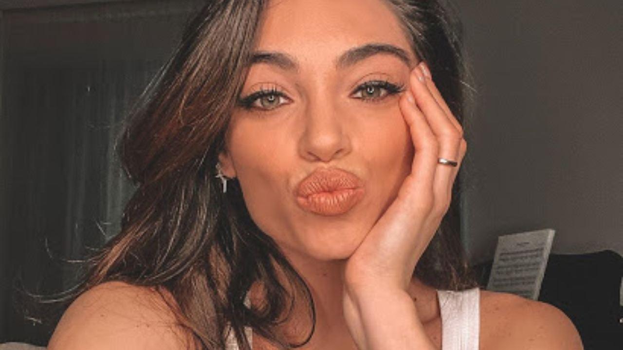 lorella boccia, selfie bacio