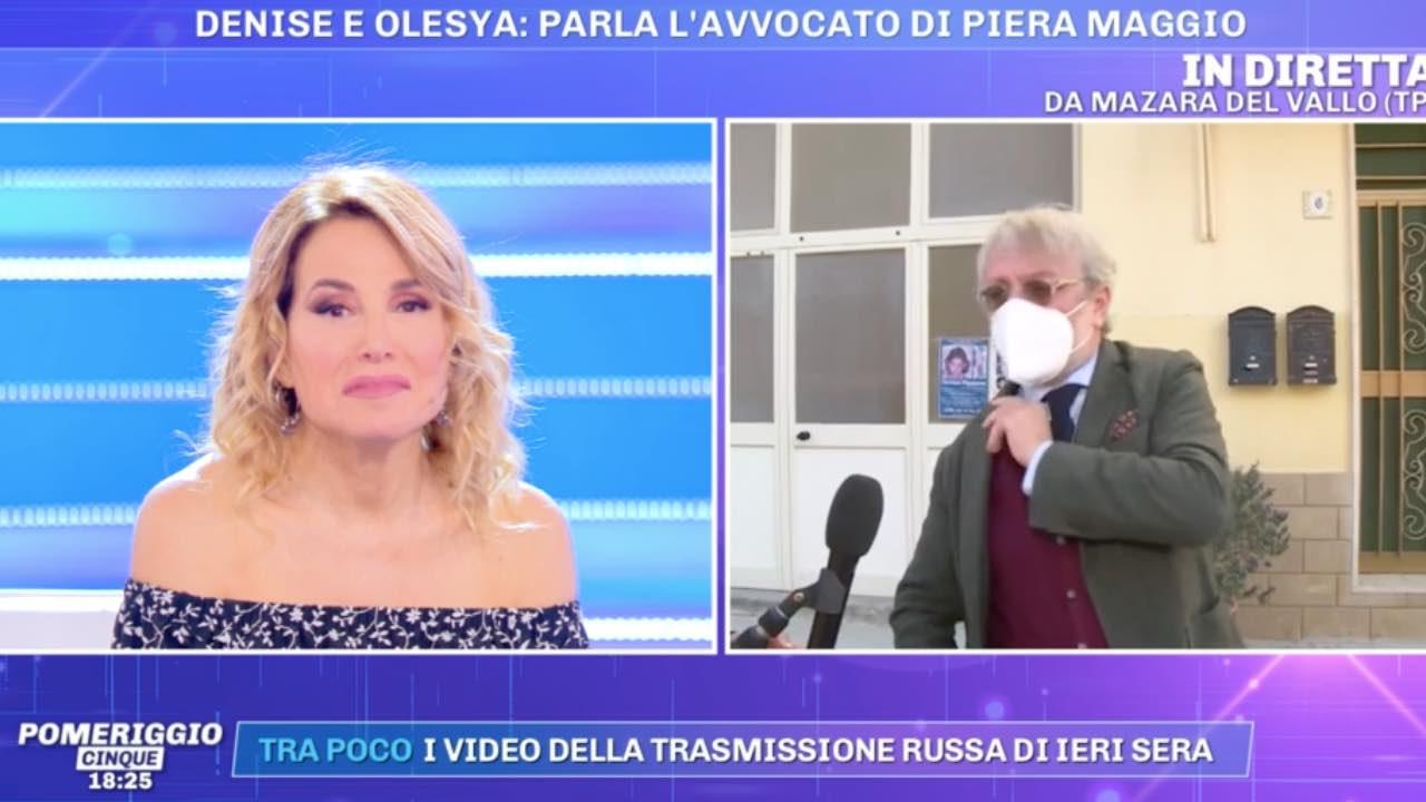 avvocato Piera Maggio lite pomeriggio 5