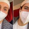 tommaso amici in treno con la mascherina