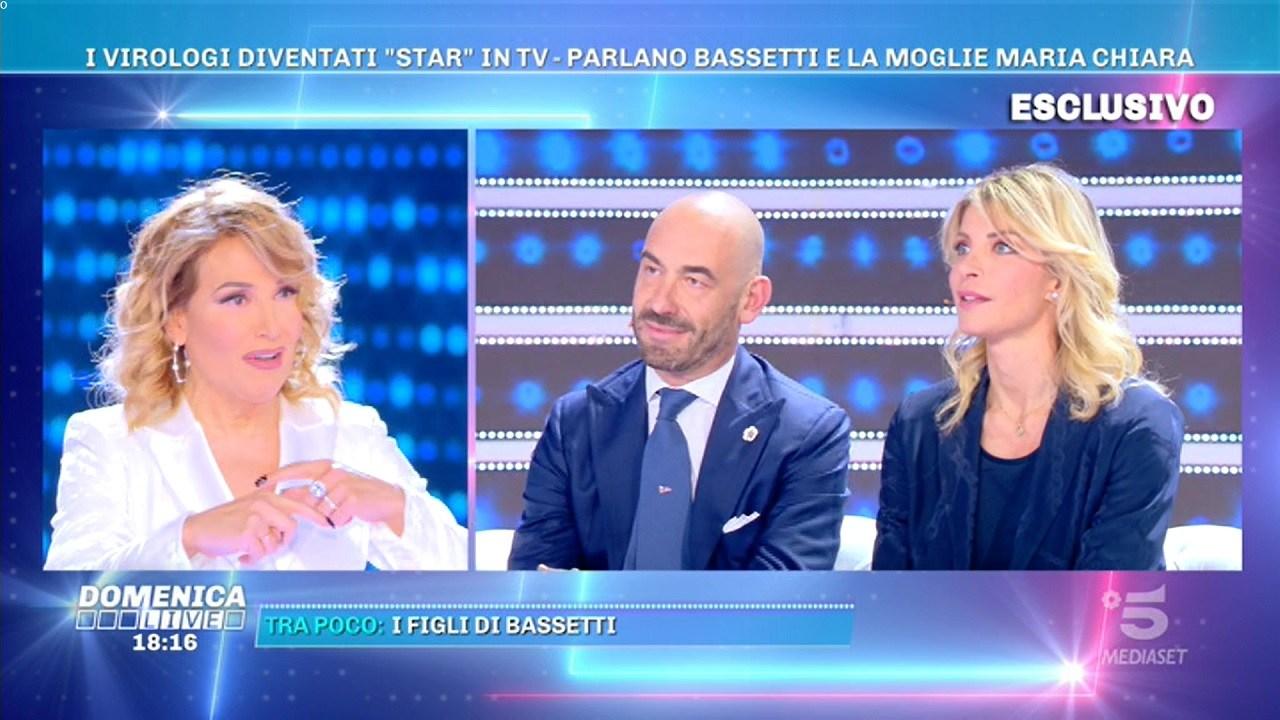 Bassetti da Barbara d'Urso a Domenica Live