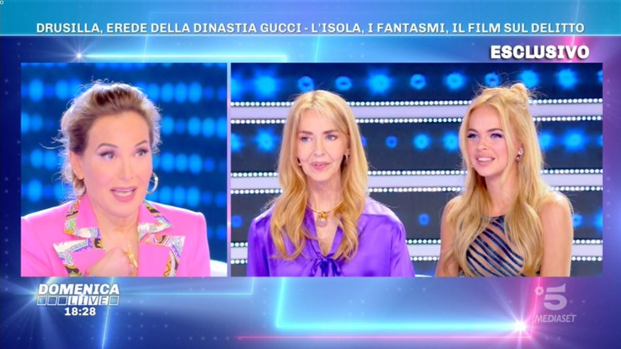 d'Urso e Drusilla Gucci a Live
