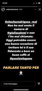 iannone smentisce cecilia rodriguez, storia instagram