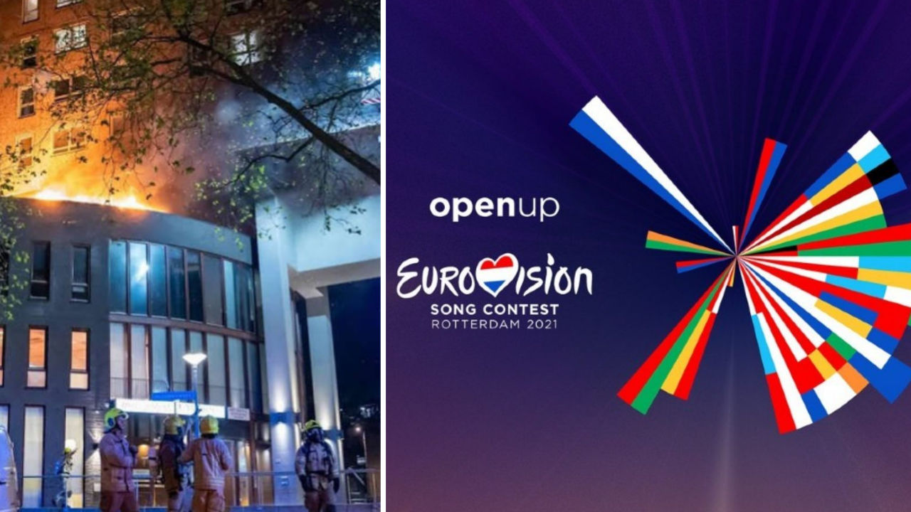 hotel in fiamme a rotterdam eurovision