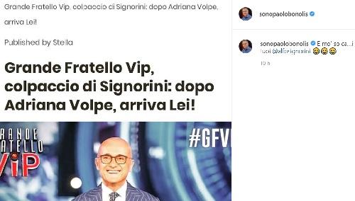 Bonolis commenta il GF Vip