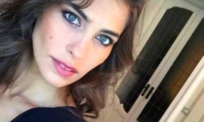 ariadna romero, selfie con abito nero