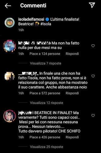 beatrice marchetti critiche instagram