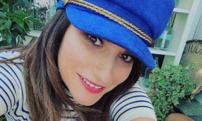 laura pausini cappello blu