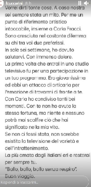 Missiva Lorella Cuccarini