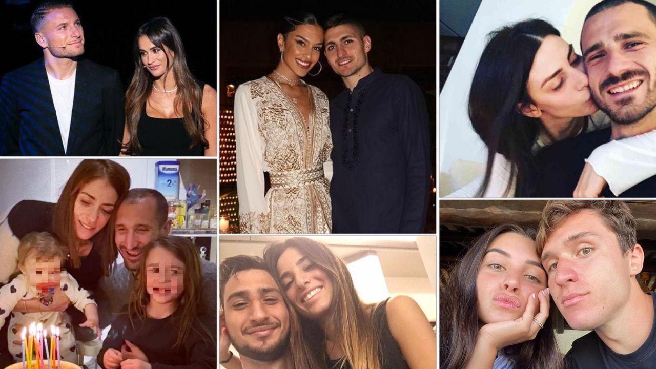 fidanzate figli mogli calciatori italia europei 2021