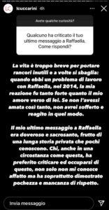 cuccarini, sfogo su instagram