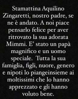 Lutto fratelli Zingaretti